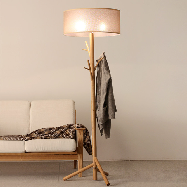 Wood floor lamp pole home find creative bedroom living room study ...