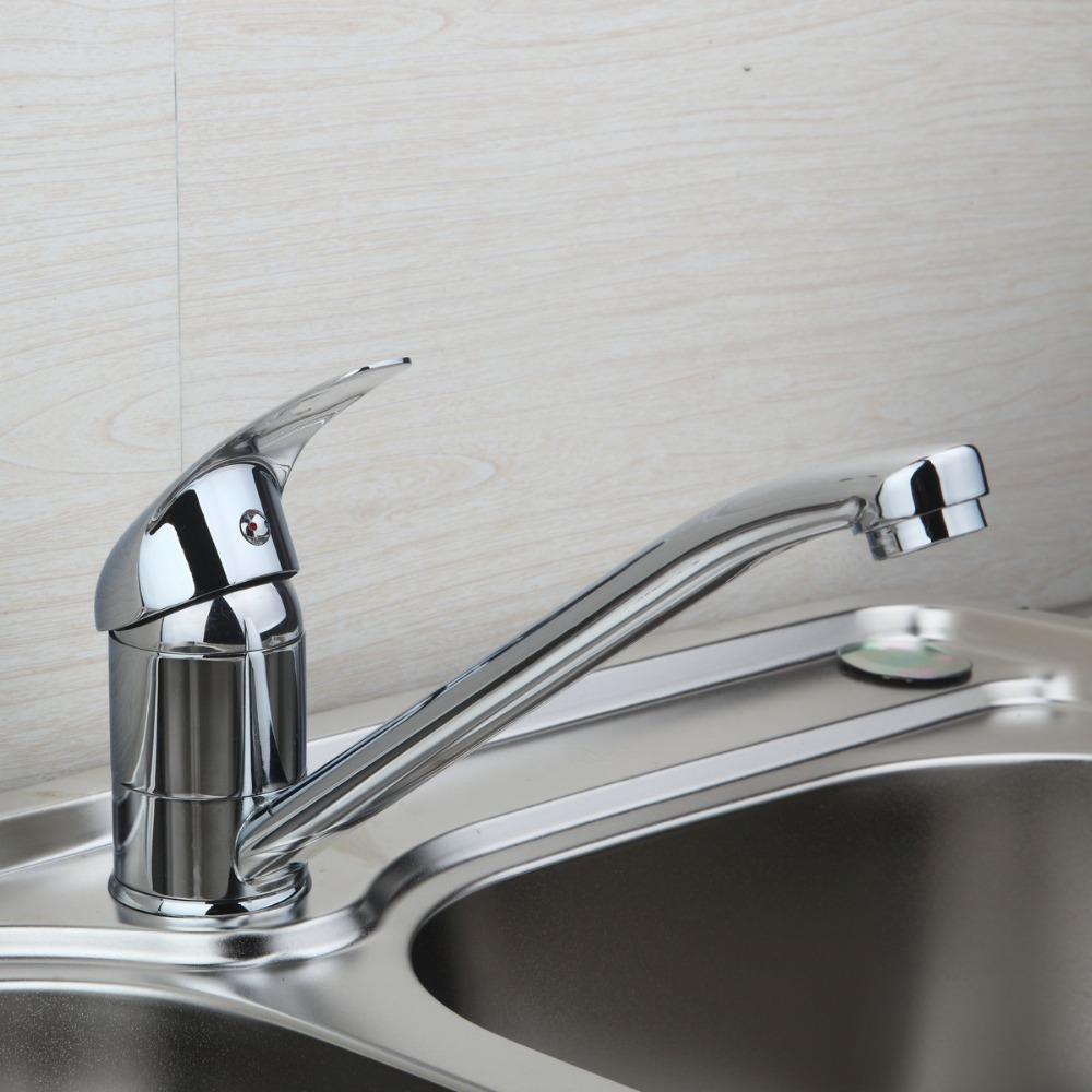 New Short 8393 Kitchen Polished Chrome Luxury New Swivel Sink Tap Brass Basin Bathroom Vessel Mixer