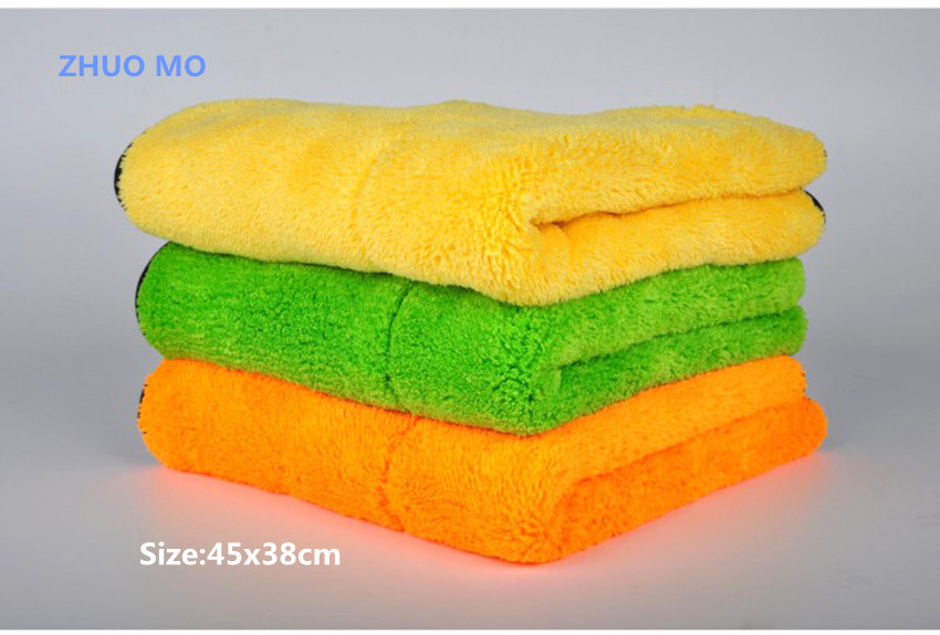 45cmx38cm High Quality Plush Microfiber Car Cleaning Cloth Car Care Microfibre Wax Polishing Detailing Towel