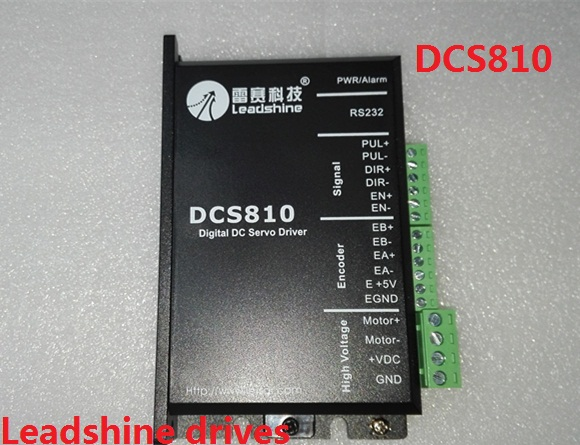 Leadshine DCS810 Brushed Servo Drive with Max 80 VDC Input Voltage 20A Peak Current leadshine hbs86 easy servo drive with maximum 20 80 vdc input voltage and 8 5a peak current
