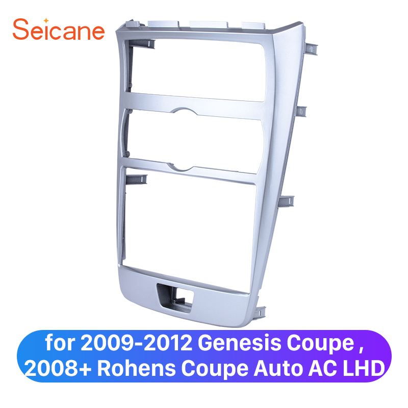 Seicane Double Din Panel Plate Kit for 2009 2012 Genesis Coupe 2008+ Rohens Coupe Auto AC LHD Surrounded Installation Kit