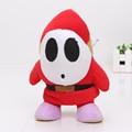 17cm Super Mario Bros Plush Toys Shy Guy stuffed doll Plush pendant with sucker toy Christmas Gift