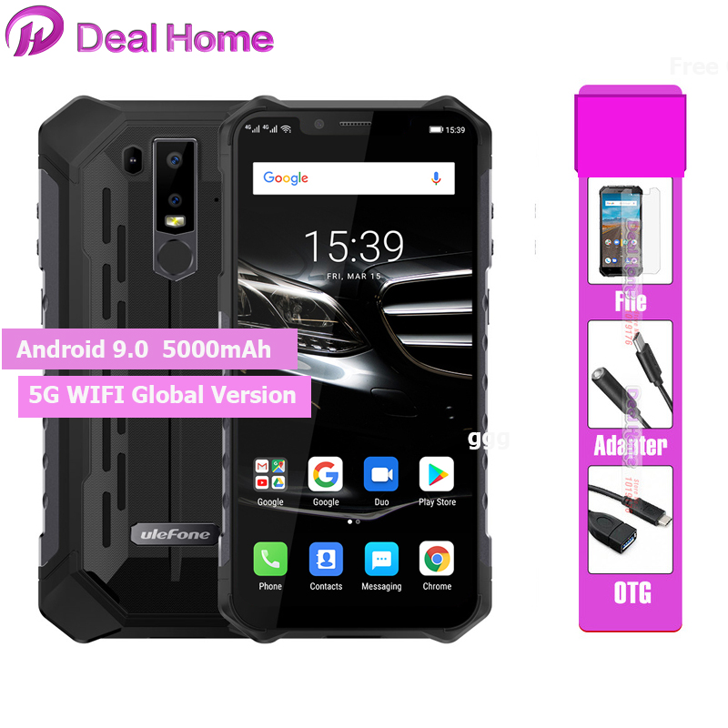 New Ulefone Armor 6E IP68 Waterproof Android 9.0 6.2 Helio P70 Smartphone 4GB+64GB Face ID NFC Wireless Charger Mobile Phone