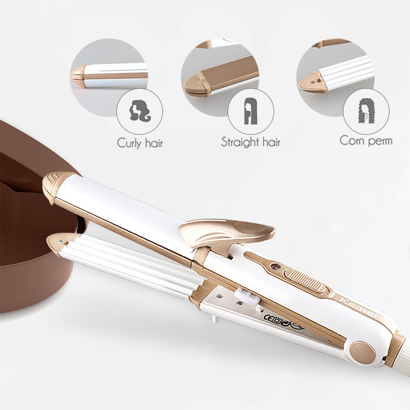 3 In 1 Curling Hair Tools High Quality Hair Plank Multifunctional Curler And Straightener Perfect Female Hair Style Tool 43