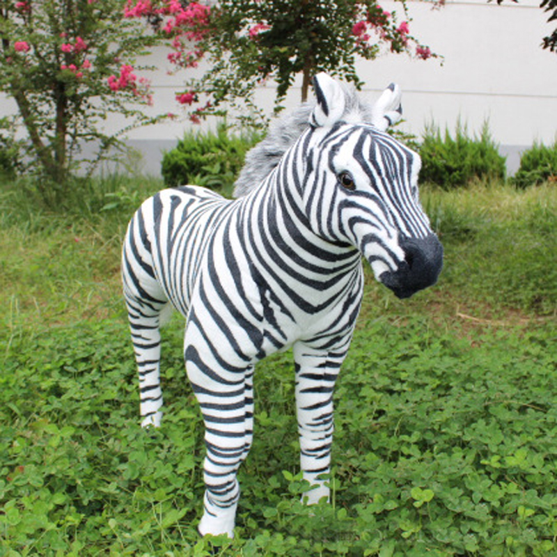 1.1m Simulation zebra model plush toy doll large cute stuffed Animal Children Birthday Gift stuffed animal 145cm plush tiger toy about 57 inch simulation tiger doll great gift w014