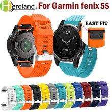 лучшая цена Silicone Soft Band sport wristband Bracelet  Wrist Strap for Garmin Fenix  5S Watch Replacement  smart Wrist Band watchband new