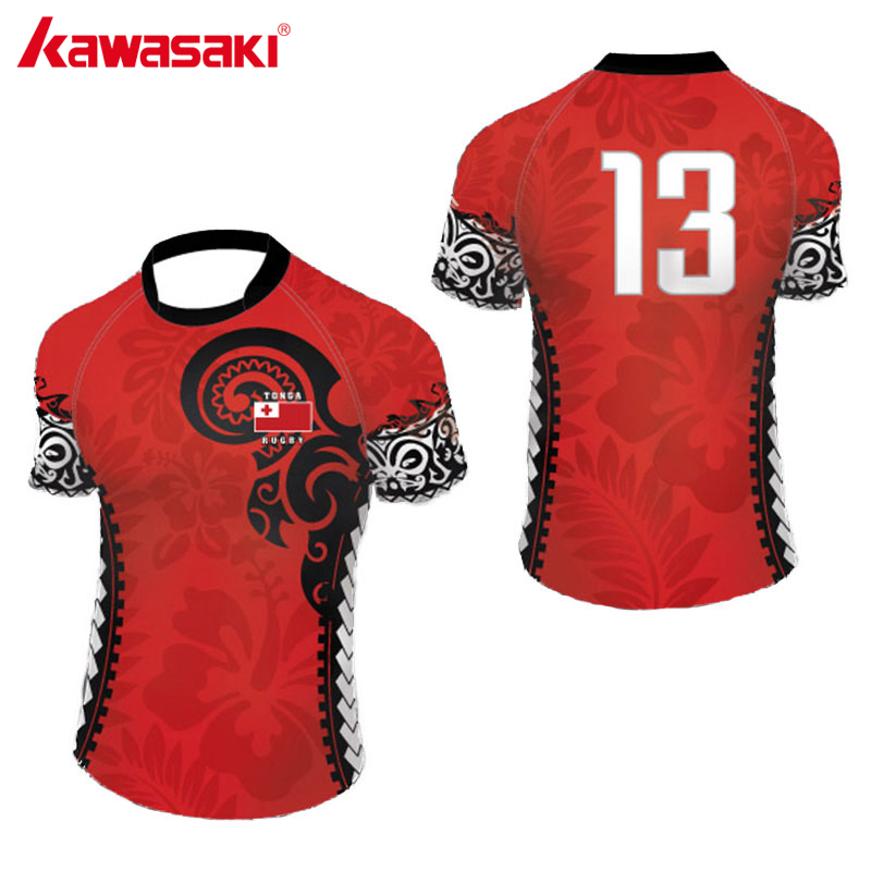 Kawasaki 2018 Rugby Jerseys Custom Sports Clothing Rugby Shirts Training Practice Shirt Uniforms Polyester