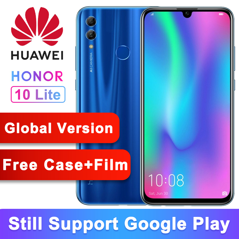 Global Version Huawei Honor 10 Lite Mobile Phone Android 9 0 6 21 FHD 2340X1080 Font