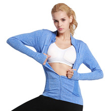 Women Sports Clothing Quick-dry Long-sleeve Sweatshirt for Female Clothes Yoga Tennis Running Fitness Zipper Jacket Outerwear