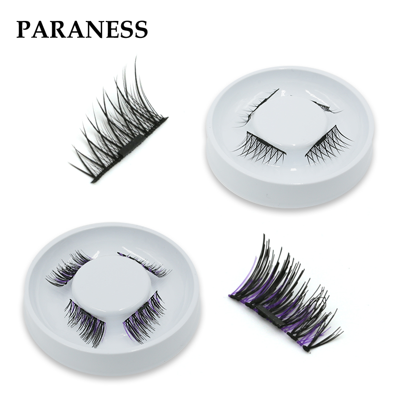 Paraness 4 Pcs/ Set Magnetic Eyelashes Maquiagem False Lashes Magnetic Lashes False Eyelashes High Quality Makeup 3d Lashes Set