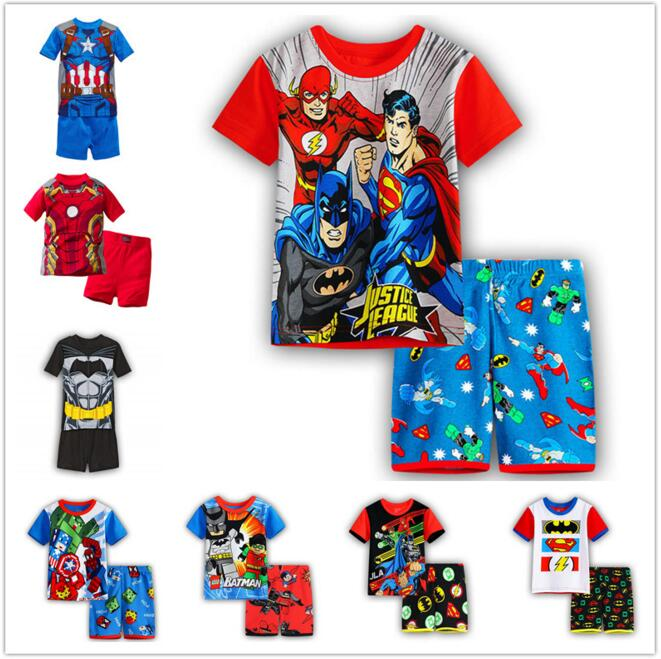 Marvel Avengers Tshirt T-shirt Clothes For Boy Kids Spider man Batman Captain America T shirt Boys Tracksuit Set Super man shirt женская футболка other 2015 3d loose batwing harajuku tshirt t a50