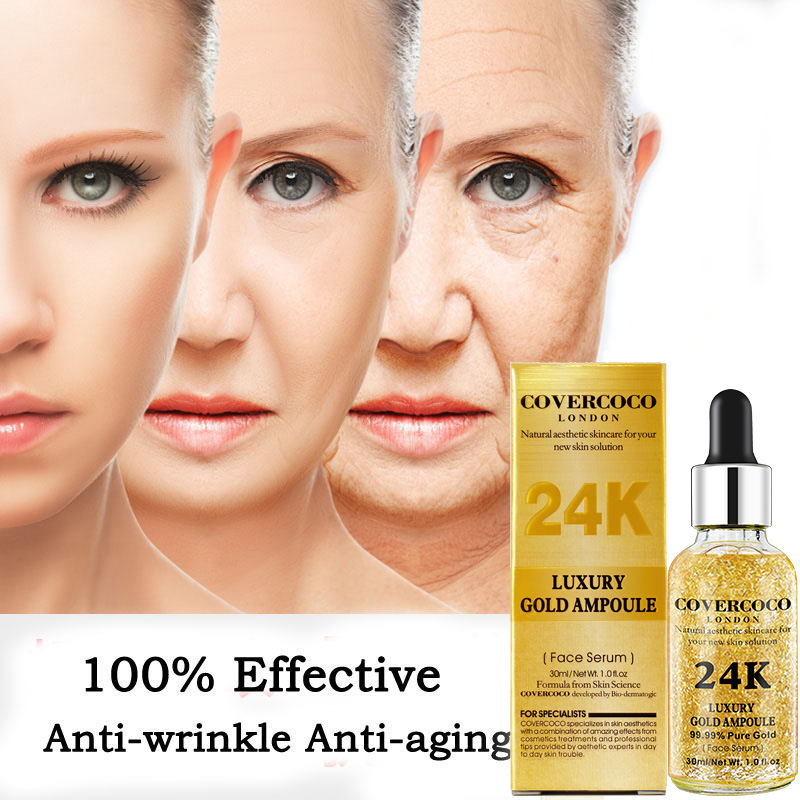 Luxury Gold Ampoule 99.99% Pure Gold Essence Hyaluronic Acid Whitening  Moisturizing Anti Aging Day Cream Anti Wrinkle Face Care| | - AliExpress