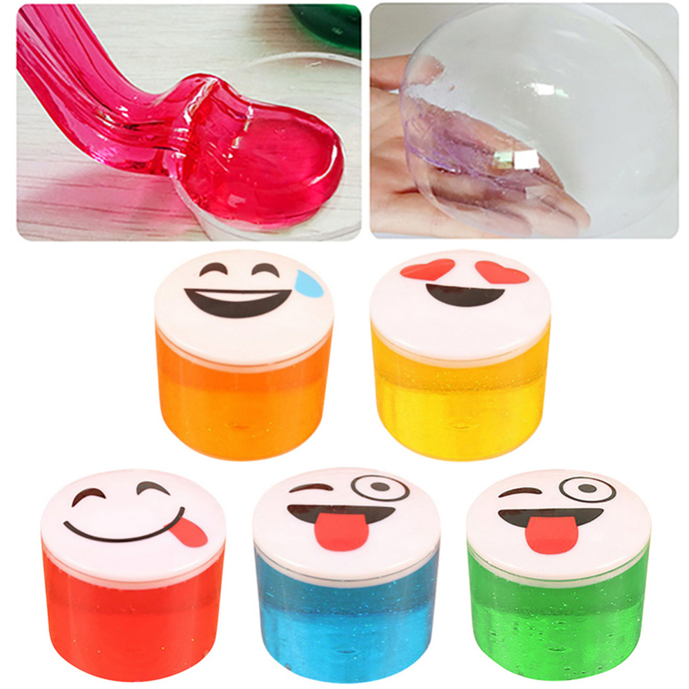 Children Educational Smiley Face Toys Crystal Clay Kids Safe Non-toxic Plasticine