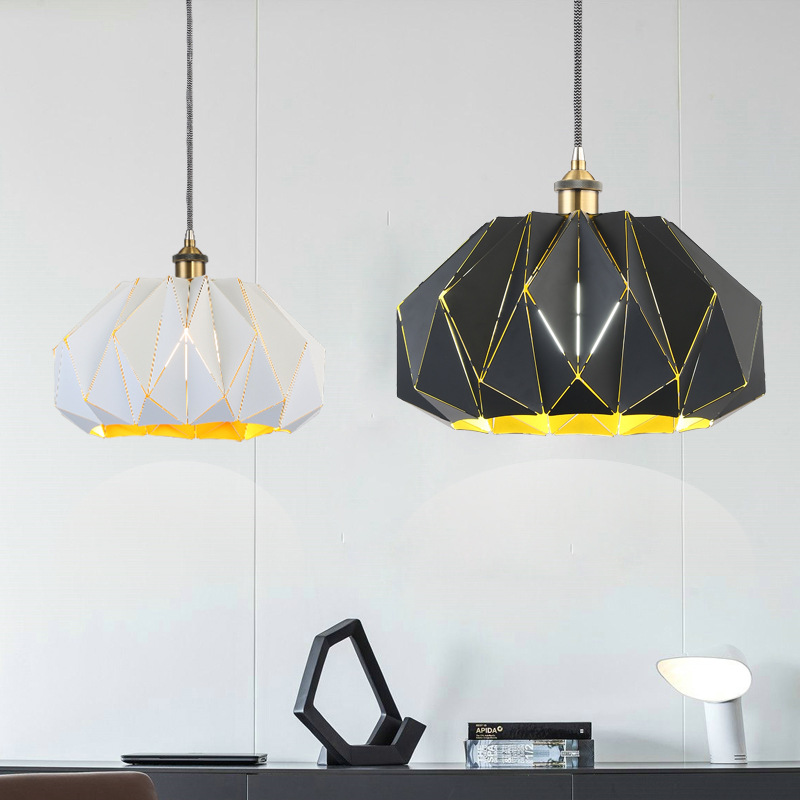 Nordic Pendant Lights For Home Lighting Modern Hanging Lamp Iron Lampshade LED Bulb Bedroom Coffee Kitchen Light 90-260V E27 black iron lampshade abajur diameter 38cm big home light dining room kitchen pendant light pendant lamp e27 e26 bulb fitting