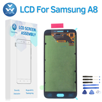 OLED For Samsung Galaxy A8 2015 A8000 SM A800F A800 LCD 5 7 Inch Black White