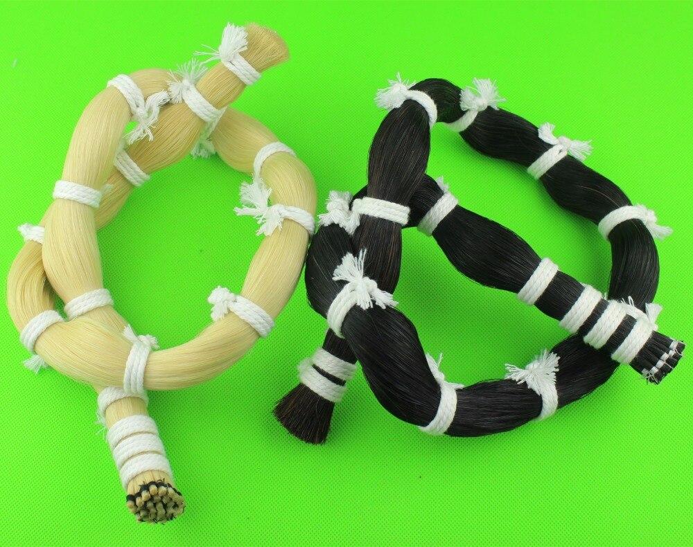 500g high quality Mongolian Horse Tail Hair Violin Bow hair 250g white 250g black