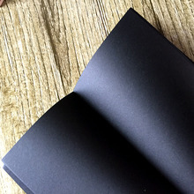 Vintage Black Paper photo album Notebook Notepad Book Kraft Cover Sketchbook black notebook gift(China)