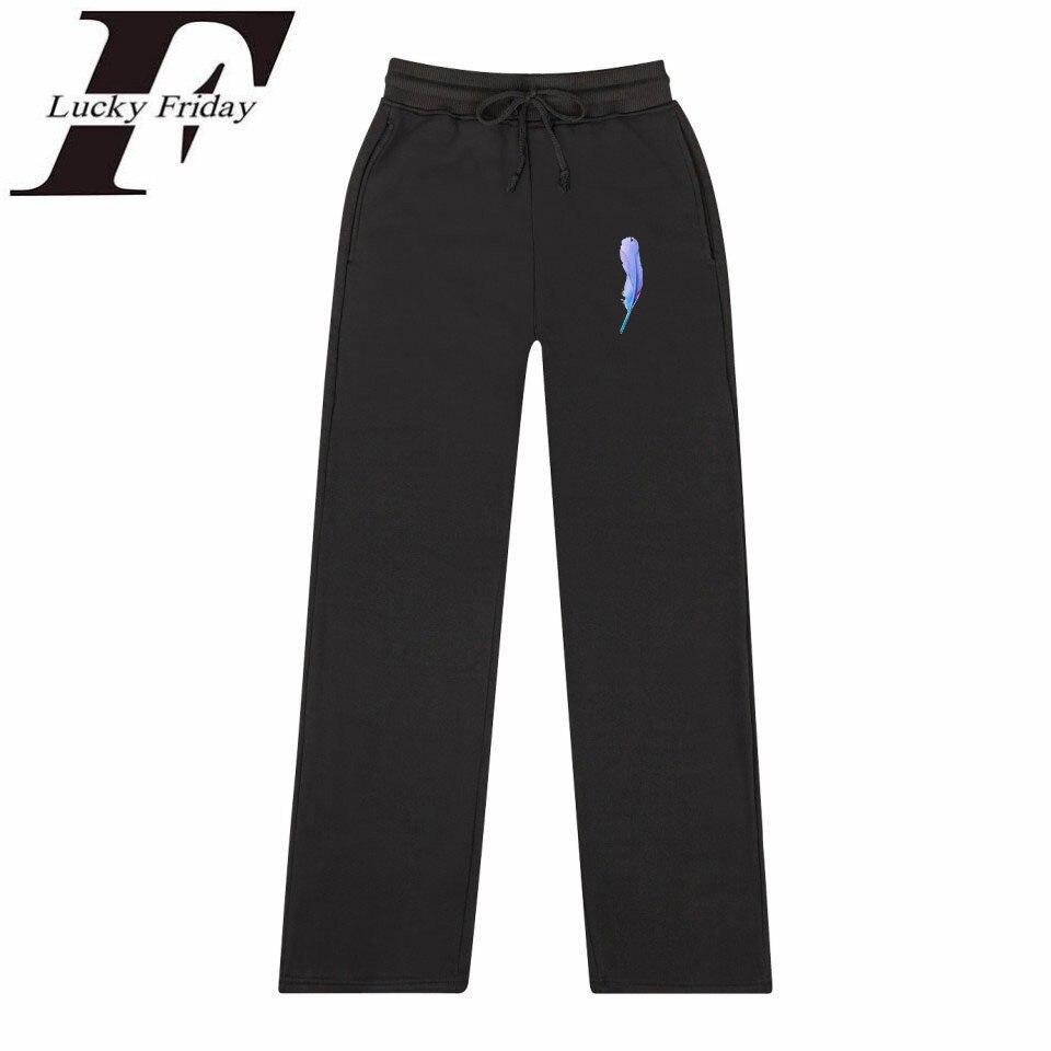 LUCKYFRIDAYF GOT7 PRESENT YOU IFASHION Warm Pants 2018 Album Trousers Straight Sweatpants Pants Kpop Men/Women High Quality