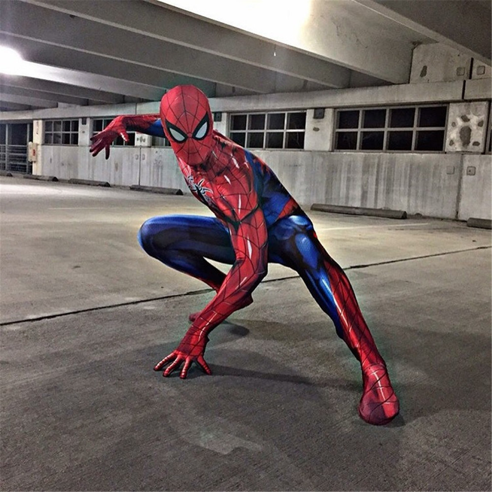 New Spiderman Costume 3D Printed Adult Lycra Spandex Spider man Costume For Halloween Mascot Cosplay costume Halloween