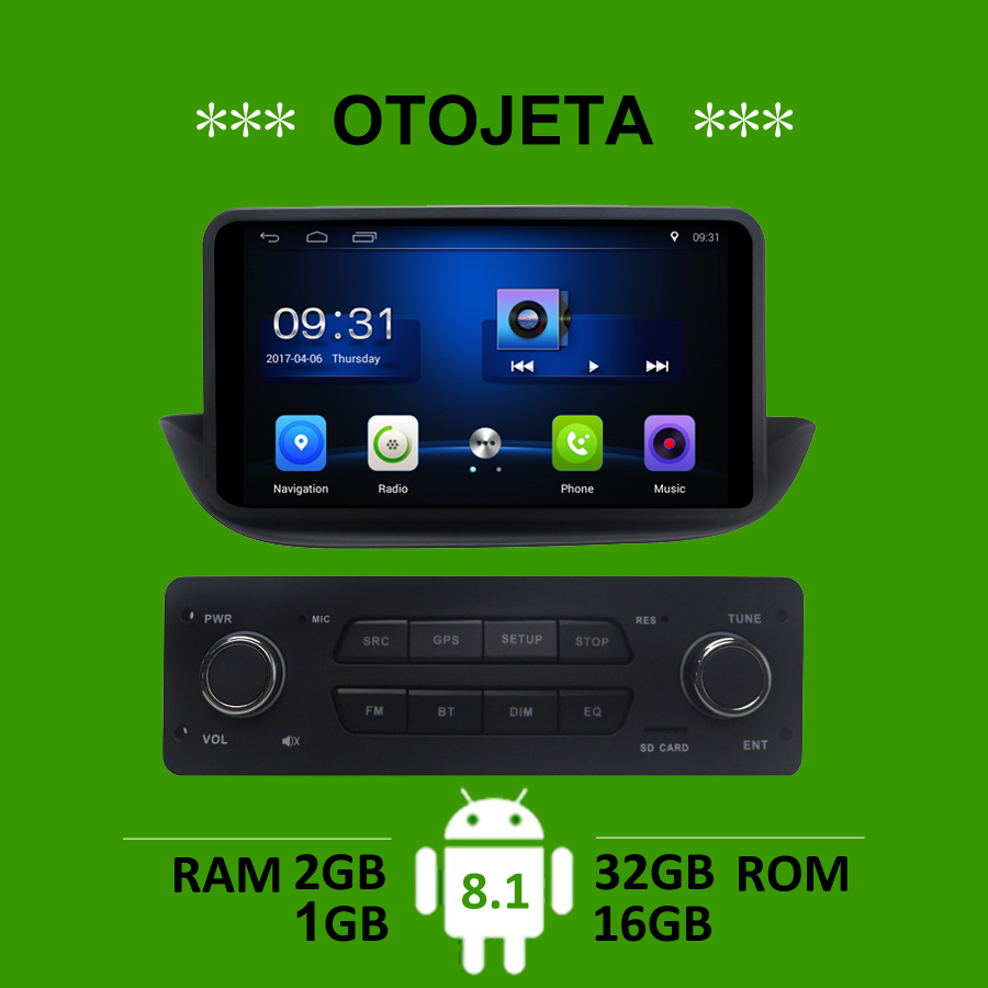 OTOJETA car accessory for <font><b>Peugeot</b></font> <font><b>308</b></font> <font><b>gps</b></font> navi android 8.1 stereo tape recorder autoradio headunits multimedia carplay player FM image