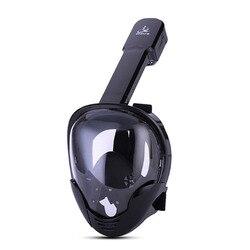 كامل الوجه قناع الغطس السطحي الغوص الاندماج الغوص بالقناع وأنبوبة التنفس قناع مجموعة 180 درجة عرض ل Gopro الذهاب برو كاميرا السباحة قناع