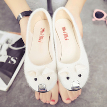 Korean version the 2016 summer new singles shoes with low shallow mouth shoe Doug students leisure slip-on pregnant women shoes