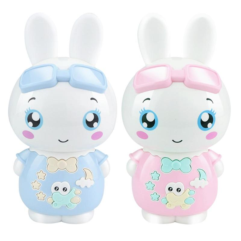 Children Learning Machine Toy Cartoon Rabbit Kids Early Education Story Machine Light Music Electronic Toys Baby Christmas Gift