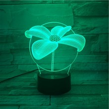 Four Leaf Clover Table 3D Lamp Touch Sensor RBG Novelty Lighting Child Kids Baby Gift Gadget Led Night Light Decor Dropshipping