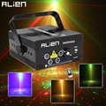 Alien LED Laser Stage Lighting 5 Lens 80 Patterns RG Mini Laser Projector 3W Blue Light Effect Show For DJ Disco Party Lights