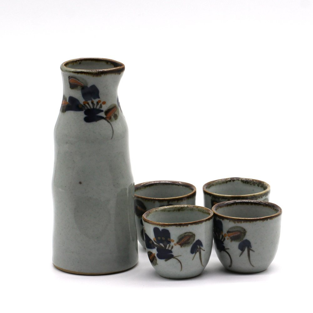5 дана Қол Stone Stone Flower Pottery Japanese Sake Set Sake Wine Pot Sake Wine Cup Gift