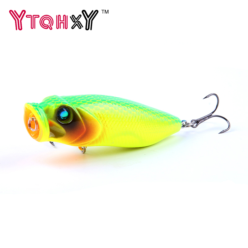1pcs Big Popper Fishing Lures 3d Eyes Hard Bait 7.5cm 14g Crankbait Wobblers  Tackle Isca Poper Japan lures YE-59 fishing lures big hard lure popper wobblers fishing tackle 3d eyes abs bait crankbait isca with hooks 10 colors 1pcs