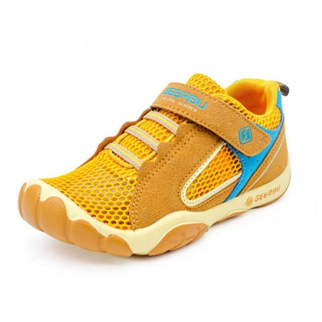 Comfy kids  Mesh Children sneakers cowhide leather child sandals casual shoes fashion sport shoes boys girls sandals shoes