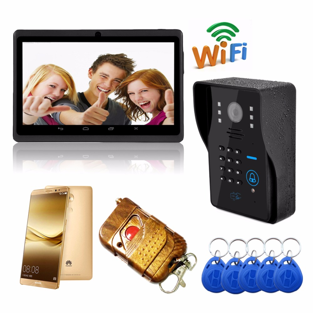 HD Wifi Wireless Video Door Phone Doorbell Support 3G 4G IOS Android for iPad Smart Phone Tablet Control Wireless Intercom simcom 5360 module 3g modem bulk sms sending and receiving simcom 3g module support imei change