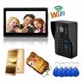 Hd wifi inalámbrico teléfono video de la puerta timbre de la puerta soporte 3g 4g control de ios android para ipad tableta del teléfono inteligente inalámbrico de intercomunicación