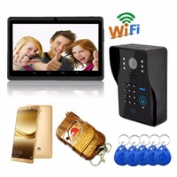 Wi Fi беспроводной видеодомофон дверной звонок ip камера поддержка 3g/4 г IOS Android для iPad смартфон планшет управление сигнализация комплект