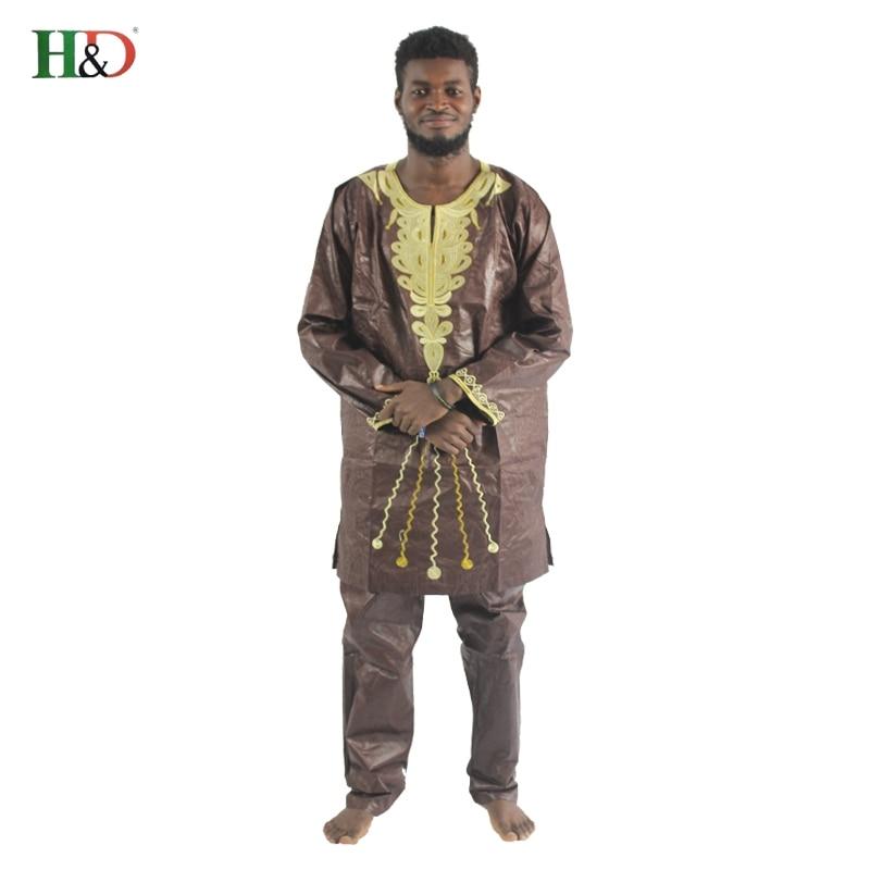H&D 2017 tradicionalna afrička muška odjeća Novi modni dizajn - Nacionalna odjeća - Foto 5
