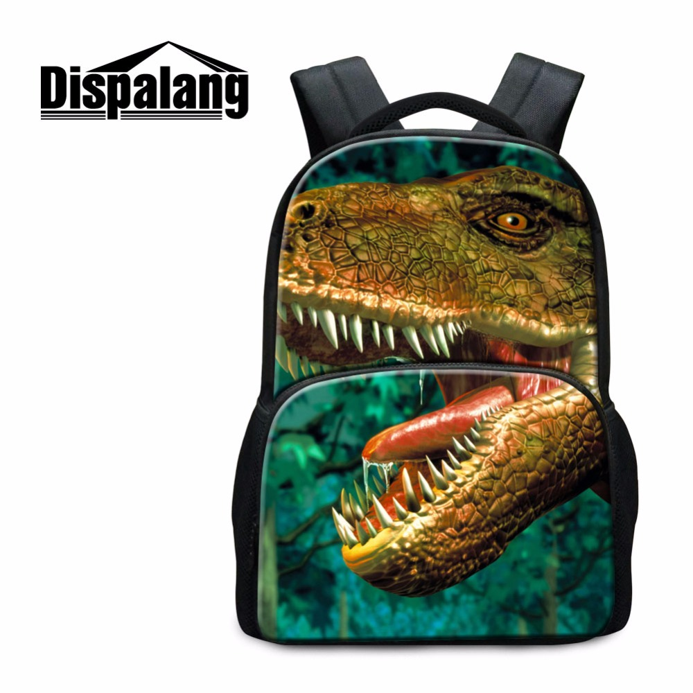 Dinosaurs Backpacks for College Students Elementary School Bookbags Boys Tiger Mochilas Cool Animal Back Pack for Girls Book Bag