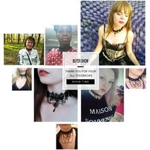 Best Lace Neck Black Crystal Choker Necklace Cheap