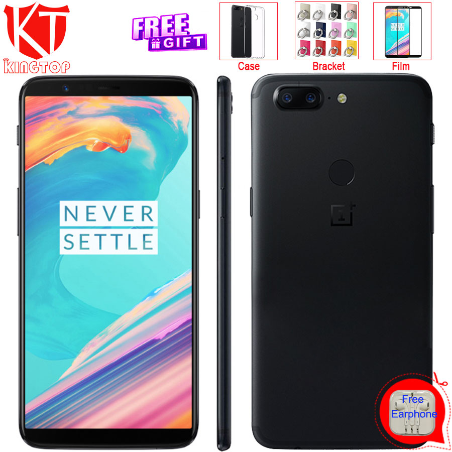 Original Oneplus 5T 6GB RAM 64GB ROM Snapdragon 835 Octa Core 6.01 Full Screen Dual Camera 20.0MP+16.0MP Fingerprint Phone