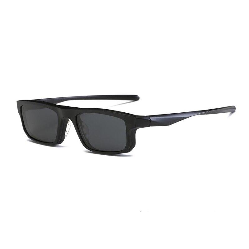 df3deb6958 TR polarizado goggle espejo magnético clip hombres miopía gafas ópticas  montura con clip en monturas de gafas de sol para hombre gafas