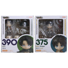 10 Cm Attack On Titan Eren Yeager Levi Bungo Anjing Liar Nakahara Chuya Dazai Osamu PVC Action Figure Mainan 375 390 676 657(China)