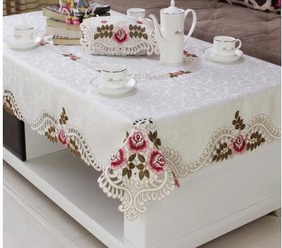 European Table Cloth Living Room Dining Rice Coffee Tablecloth Rectangular Lace Square In Tablecloths From Home