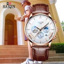 HAIQIN Mens Watches top brand Luxury Watch Men 2019 Military Wristwatch Chronograph Quartz Male Relogio Masculino