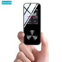 Yescool X2 1.8 Inch lossless hifi music player MP3 player Bluetooth speaker E book FM radio voice recorder Mini sports walkman