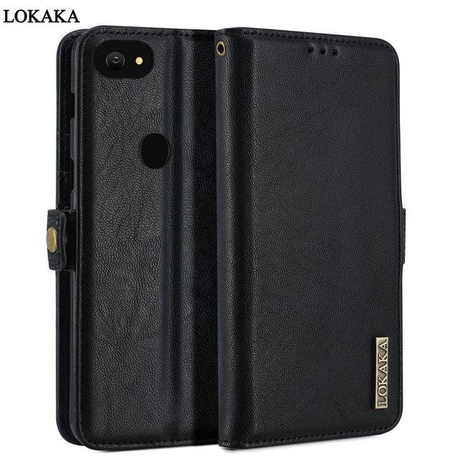 new arrival 1e8ba c9355 US $8.24 25% OFF LOKAKA Phone Flip Case For Google Pixel 2 / 2XL Wallet  Luxury PU Leather Cover Phone Bag Cases For Google pixel 2 XL 2XL Coque-in  ...