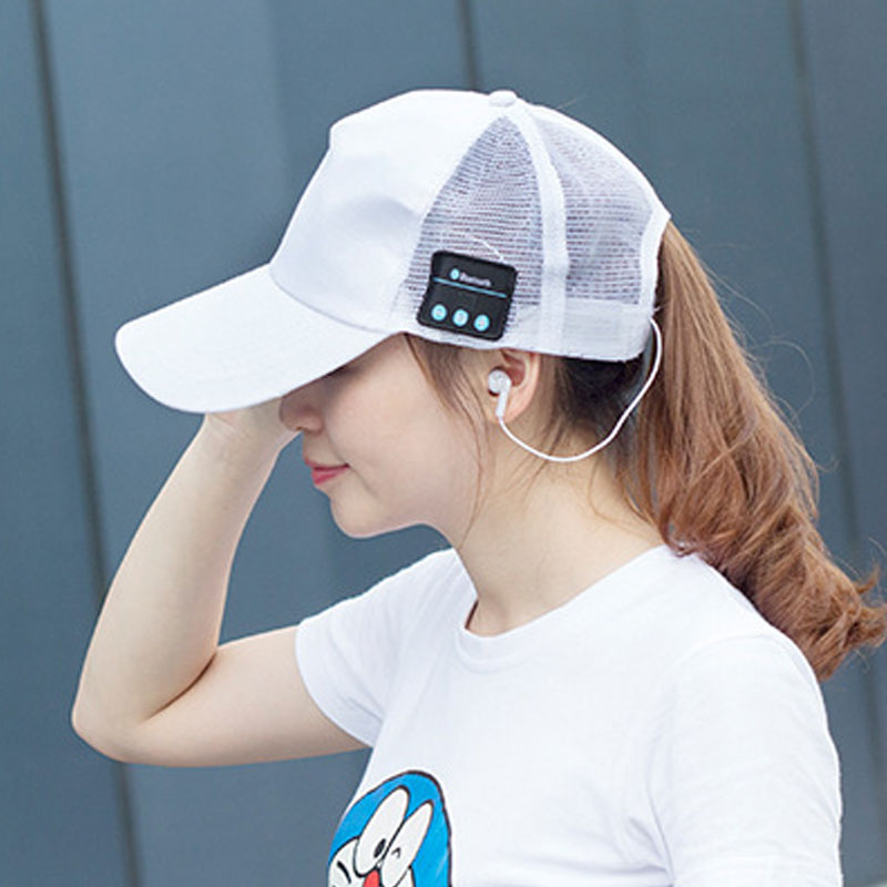 BBGear Wireless Bluetooth Earphone Cap Outdoor Sports Sun Baseball Hat Headset w/ Mic Handsfree Music Headphone for Mobile Phone v4 0 edr bluetooth baseball hat