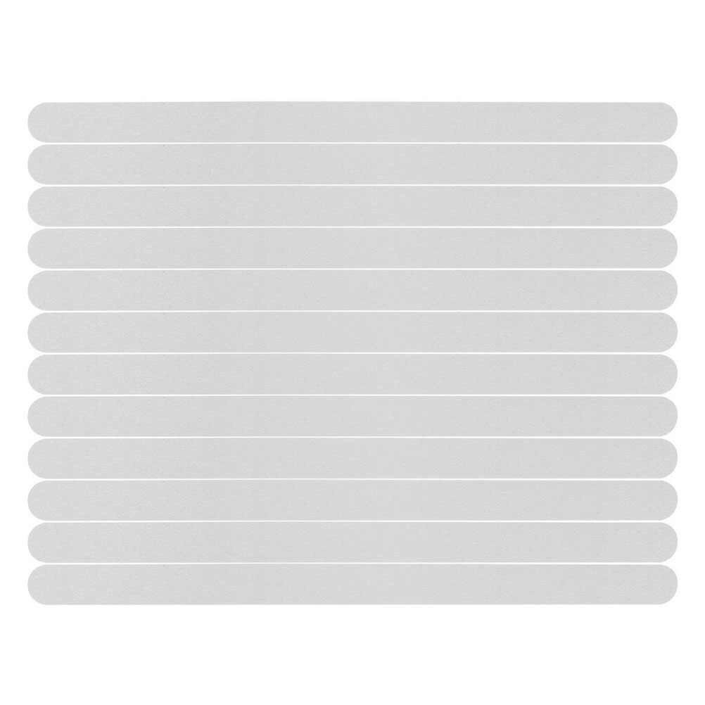 Anak Tangga Anti-Slip Karet Bathtub Mandi Transparan Non-Slip Stiker dengan Shower Kamar Mandi Anti-Slip Strip