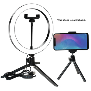 Image 1 - Selfie Lamp LED Studio Camera Ring Light Photo Phone Video Light Lamp With Tripods Selfie Stick Ring Table Fill Light For Canon