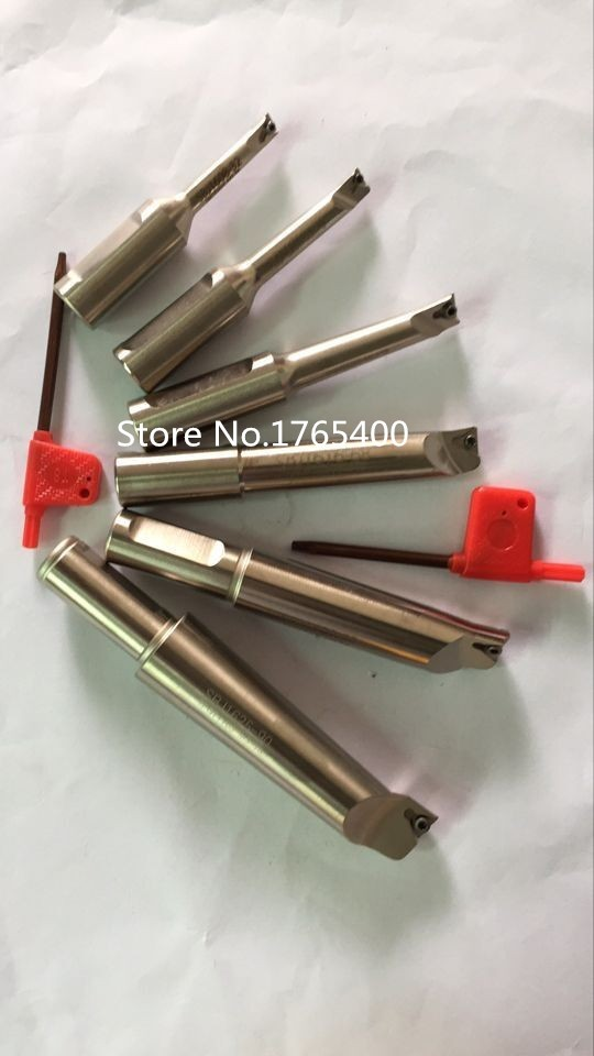 New 6pcs  indexable boring bar with 12mm shank  boring bar for F1-12 50mm Boring head boring tool
