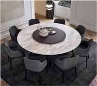 Одноцветное деревянный обеденный зал набор мебели для дома минималистский современный мраморный обеденный стол и 4 стула Меса обеденный ст